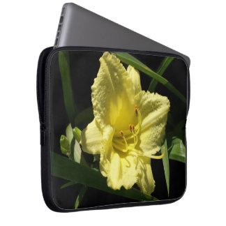 Yellow Daylily Flower Laptop Sleeve