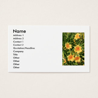 Yellow Daylily Flowers Business Card