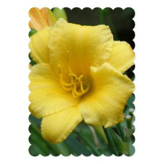 """Yellow Daylily 5"""" X 7"""" Invitation Card"""