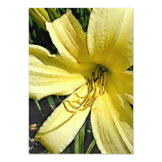 Yellow Daylily Personalized Announcements