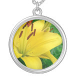 Yellow daylily necklace