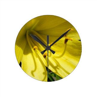 Yellow Daylily Wall Clock