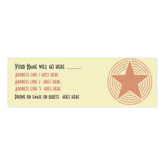 Yellow Deco Star Business Card