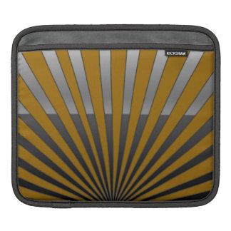 Yellow Deco Stripes iPad Sleeve