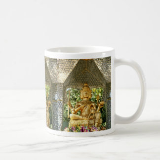 yellow Deities In Three Buddha Temple In Central H Mugs