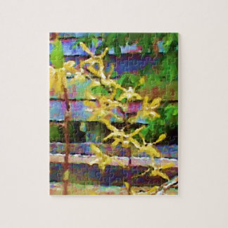 Yellow Dendrobium Orchids Jigsaw Puzzle