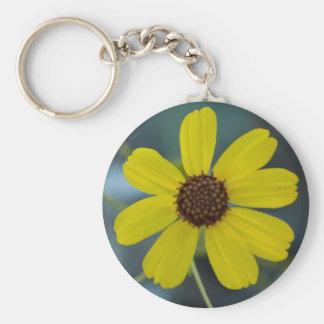 Yellow Desert Wild Flower KeyChain