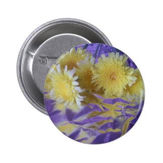Yellow Desert Wild Flowers Buttons