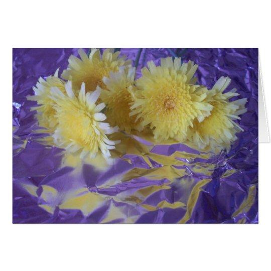 Yellow Desert Wild Flowers Card