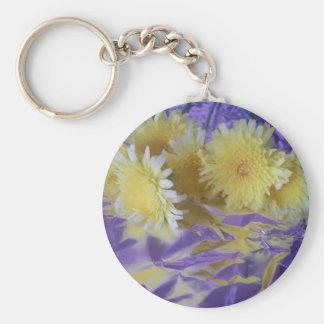 Yellow Desert Wild Flowers Key Chain