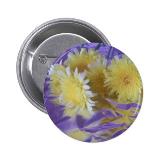 Yellow Desert Wild Flowers Pinback Buttons