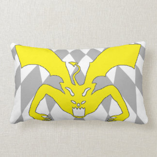 Yellow Devil Lumbar Pillow