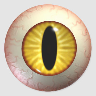 Yellow Devils Eye Stickers