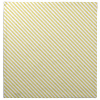 Yellow Diagonal Lines Cloth Napkin