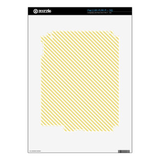 Yellow Diagonal Lines Skin For iPad 2