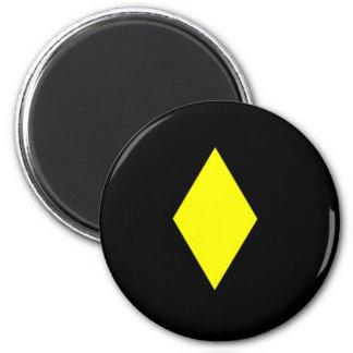 Yellow Diamond 2 Inch Round Magnet