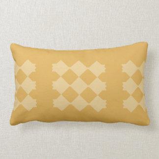 Yellow Diamond, Gold Background Lumbar Pillow