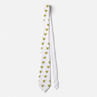 Yellow Diamond Heart Tie