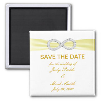 Yellow Diamond Infinity Save The Date Magnet
