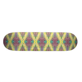 yellow diamond pattern skateboard