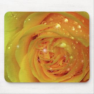 Yellow Diamond Rose Mousepad
