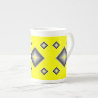 Yellow Diamonds Bone China Mug by Janz