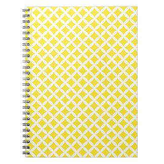Yellow Diamonds Spiral Note Books