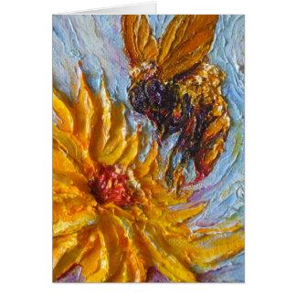 Yellow Diasy & Bee Greeting Card