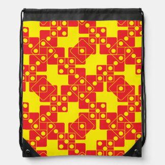 Yellow Dice Drawstring Backpack