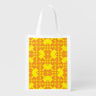 Yellow Dice Grocery Bag
