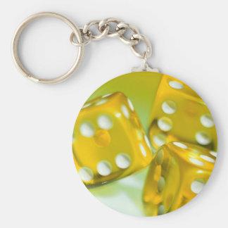 Yellow Dice Keychain
