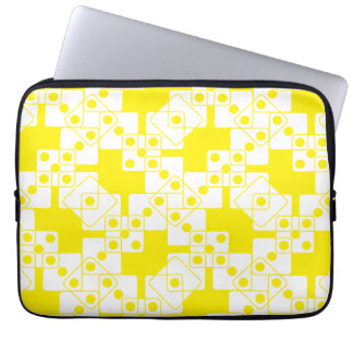 Yellow Dice Laptop Computer Sleeves