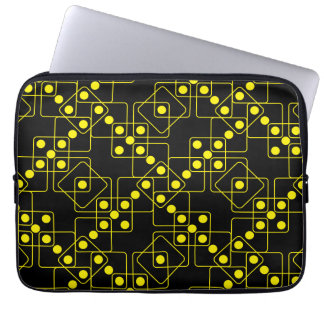 Yellow Dice Laptop Sleeves