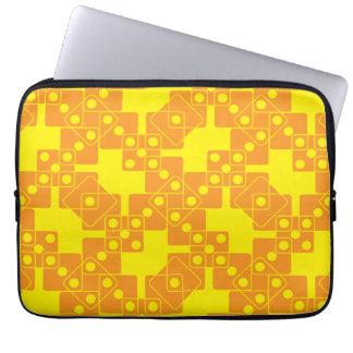 Yellow Dice Laptop Sleeve