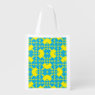 Yellow Dice Reusable Grocery Bag