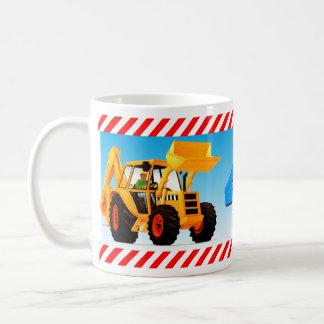 Yellow Digger 4th Birthday Classic White Coffee Mug