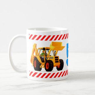 Yellow Digger 5th Birthday Coffee Mugs