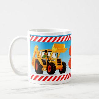 Yellow Digger 8th Birthday Classic White Coffee Mug
