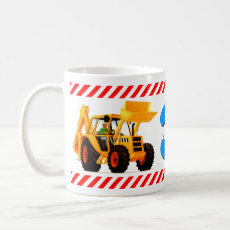 Yellow Digger Boy's 3rd Birthday Coffee Mug
