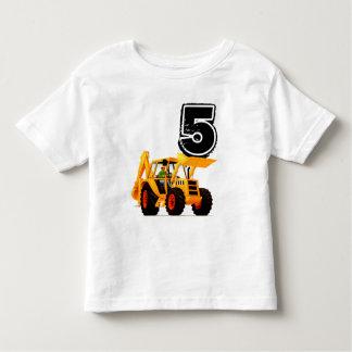 Yellow Digger Boys 5th Birthday Toddler T-shirt