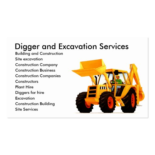 Yellow Digger Business Card