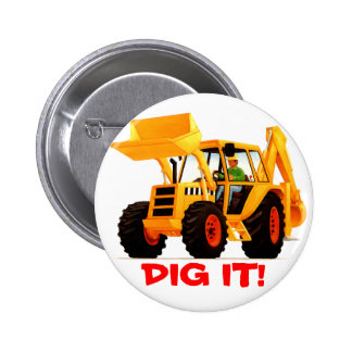 Yellow Digger 2 Inch Round Button