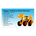 Yellow Digger Excavator Business Card Templates