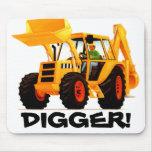 Yellow Digger Mouse Pads