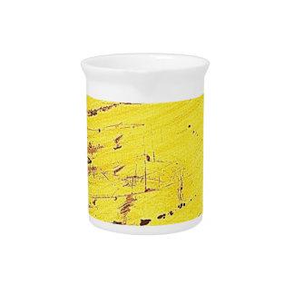 Yellow Digital Art Beautiful Design Style Fashion Beverage Pitchers