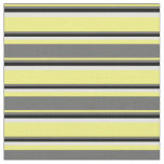 [ Thumbnail: Yellow, Dim Grey, Black, and Light Cyan Lines Fabric ]