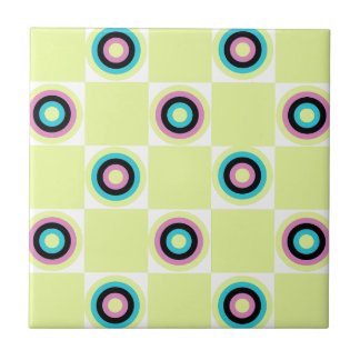 Yellow Diner Orbs Tile