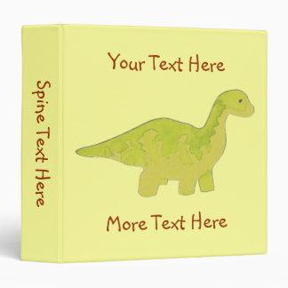 Yellow Dinosaur Binder