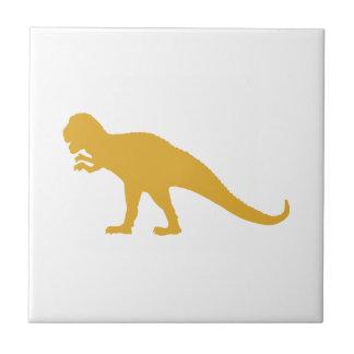 Yellow Dinosaur Ceramic Tile