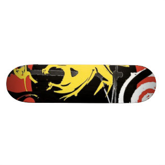 Yellow dinosaur design on a skateboard! skateboard